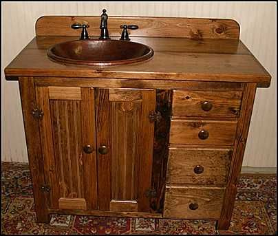 Bathroom Design Gallery On Country Style Wooden Bathroom Vanity Furniture Design Tips Photos