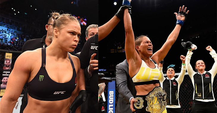 UFC 207 Ceremonial Weigh-in: Amanda Nunez vs. Ronda Rousey