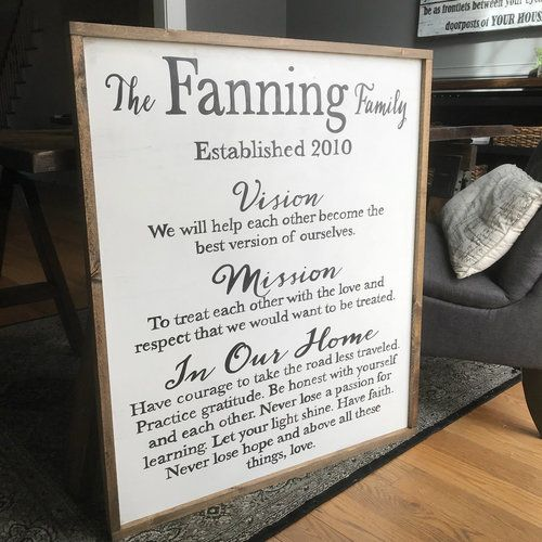 XL Family Mission Statement {Fanning Design}