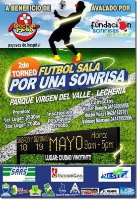 """II Torneo de Fútbol Sala """"Por una Sonrisa"""" a beneficio de Doctor Yaso - http://www.leanoticias.com/2013/05/02/ii-torneo-de-futbol-sala-por-una-sonrisa-a-beneficio-de-doctor-yaso/"""