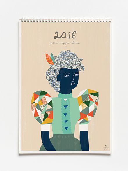 frankie calendar 2016 (pre-order)cover by Sarah Walsh