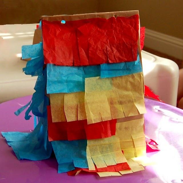 Make your own paper sack pinata...