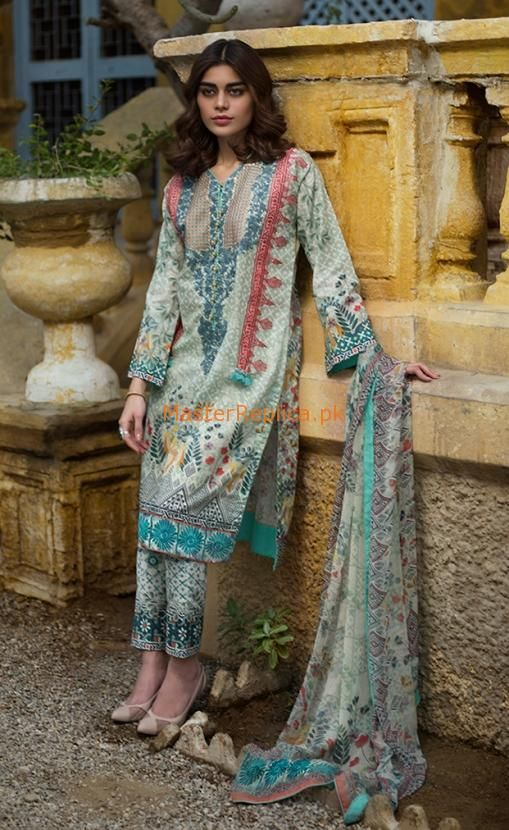 919ceee6a8 Check Out LAKHANI Latest Embroidered Lawn Collection Replica 2018 at Master  Replica Pakistan Call/WhatsApp: +923322622227 #pakiclothing ...