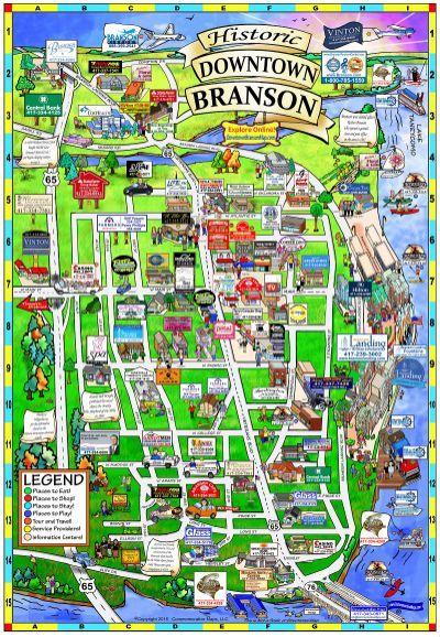 Branson Missouri Map Branson Missouri Branson