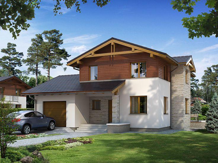 DOM.PL™ - Projekt domu MT Kobalt paliwo stałe CE - DOM ST9-16 - gotowy projekt domu