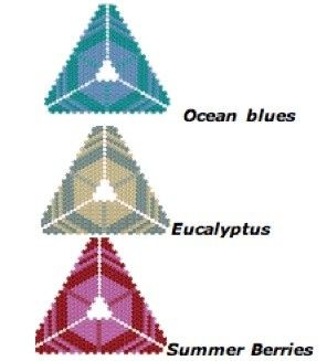 Peyote pattern for Hexangles beaded pendant
