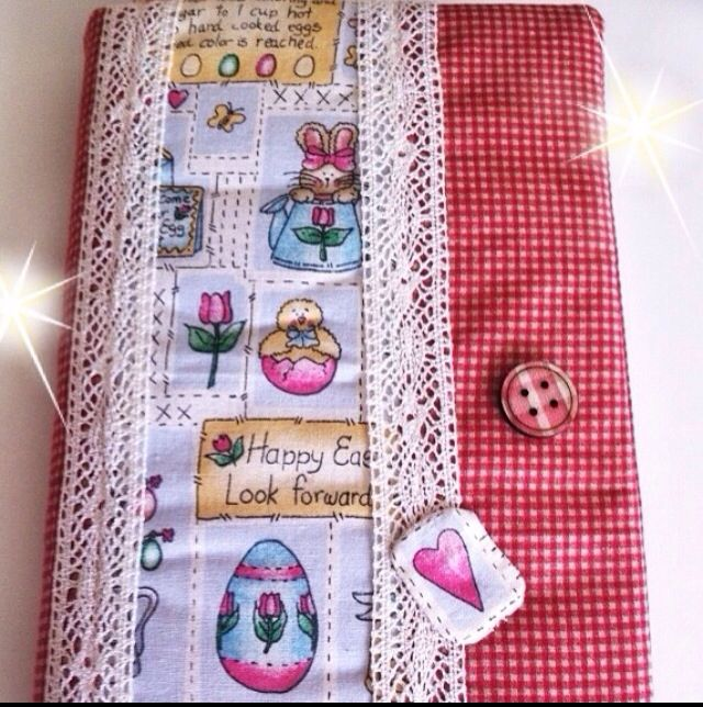 Handmade bookcover sewingcraft