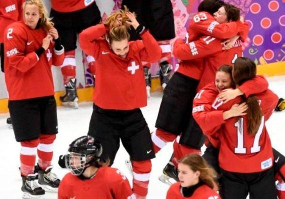 L'équipe de Suisse dames a remporté la médaille de bronze aux Jeux olympiques de Sotchi 2014