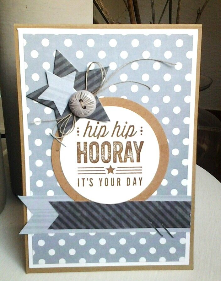 Awesome Masculine Card Making Ideas Part - 10: Card With Stars For Men Masculine Birthday Card MFT 208