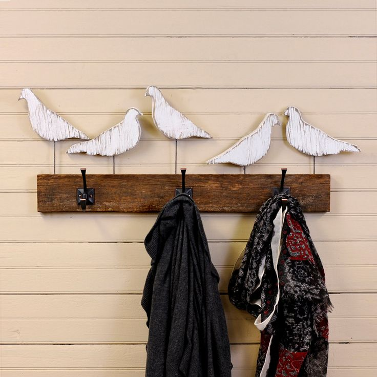 Bird Hook Coat Hook Five Bird Entryway Hook by SlippinSouthern, $117.00