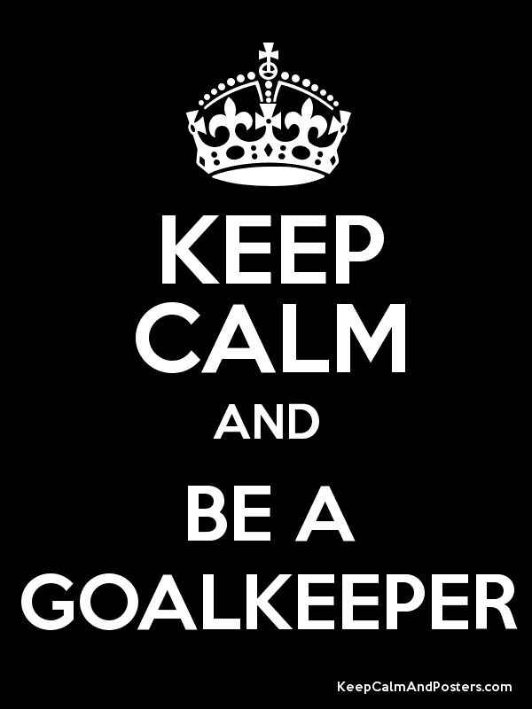 i miss goalkeeping in soccer. it was so fun!
