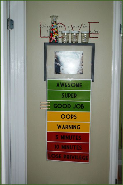 """Home Behavior system, this is like the """"green and red """" board at Jacob's school in a way. would be a good way to incorporate the jars as well."""