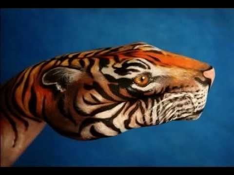 THIS PAINTING IS ON THE HUMAN HAND - AMAZING!  2:00
