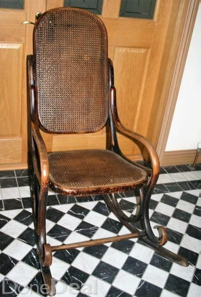 A delightful original Bentwood Rocking Chair, no woodworm, and rocks wonderfully easy.Marks and scuff, with wear as you would expect for a chair that is around 100 years old. Slight damage in a very small spot to the back of the ratton material in the chair, but you have to look to see it. See photo.In complete original condition, not  polished or refurbished in any way.Can deliver, depending on distance, or you may collect.#xtor=CS1-41-[share]