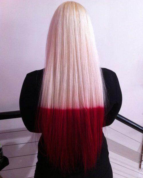 Red Dip Dye Hair | Full Dose