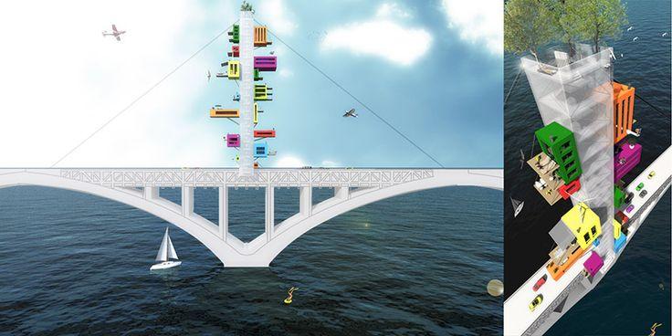 """Concours de dessin destiné aux enfants du CP au CM2 - """"Habiter un pont"""". Vernissage le samedi 19 septembre 2015 à partir de 16H00 à la mairie de #Brest"""