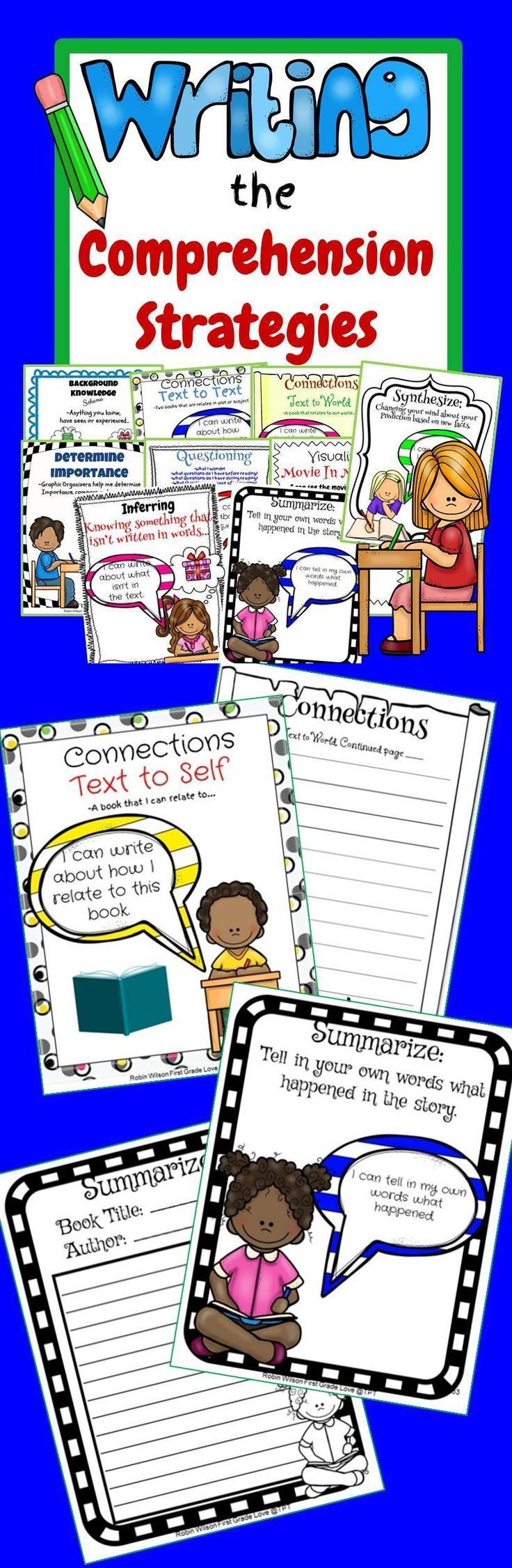 The comprehension strategies help students make sense of text. Being able to continue that into your writing will help solidify your literacy program.