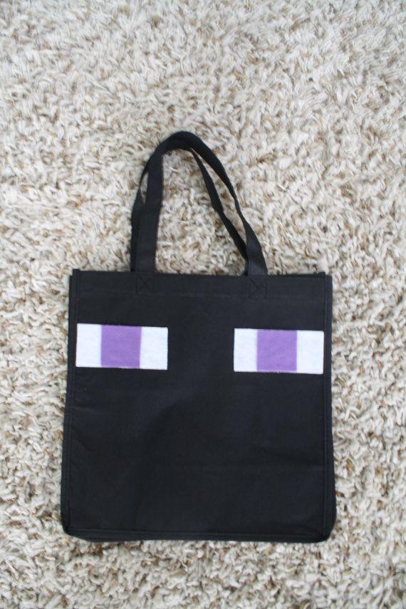 Minecraft inspired trick or treat Enderman bag by holstix31, $9.99