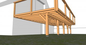 Terrassen auf Ständerwerk – ▷ Holzterrasse : Di…