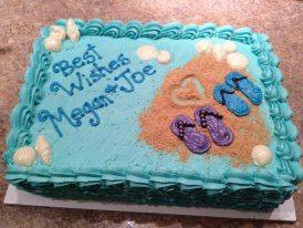 Bridal Shower Beach Themed 1 2 Sheet Cake Cake