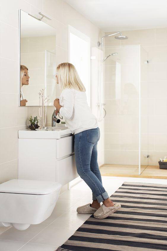 Seinä-wc on erinomainen valinta myös remonttikohteeseen.