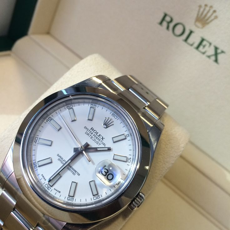 #Fresh white dial Rolex Datejust II. Smooth bezel, perfect 1st Rolex!