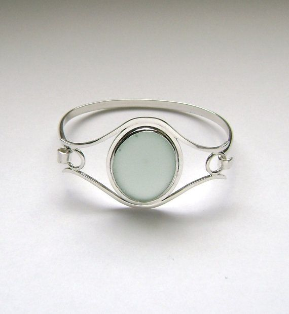 Sea Glass Jewelry  Sterling Blue English Sea by SignetureLine, $105.00