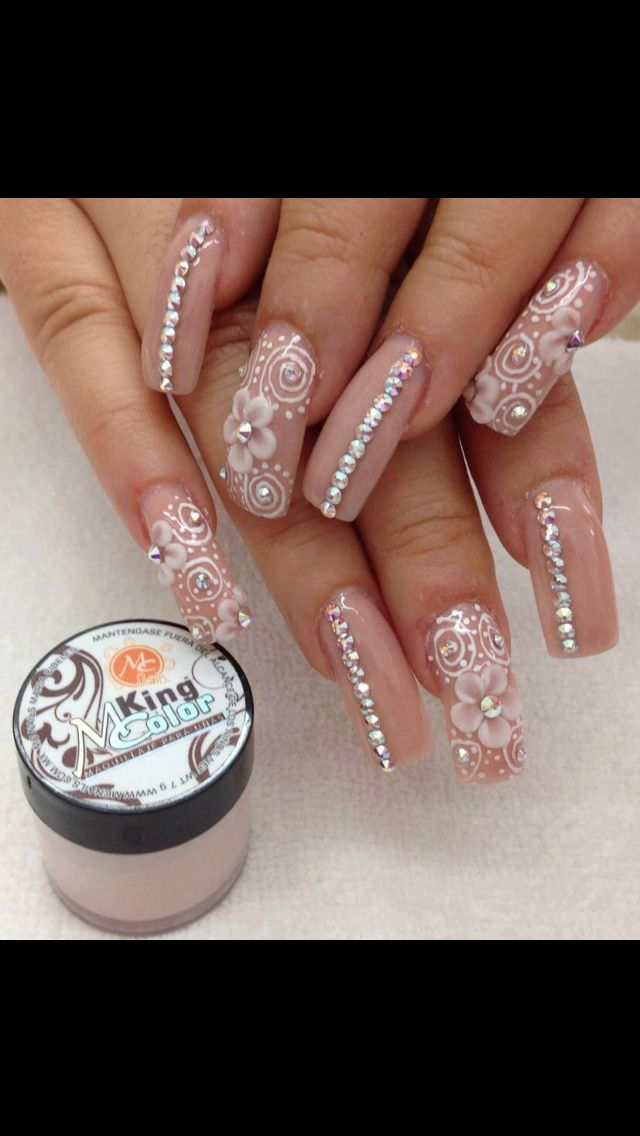 Nude 3D Acrylic Nails