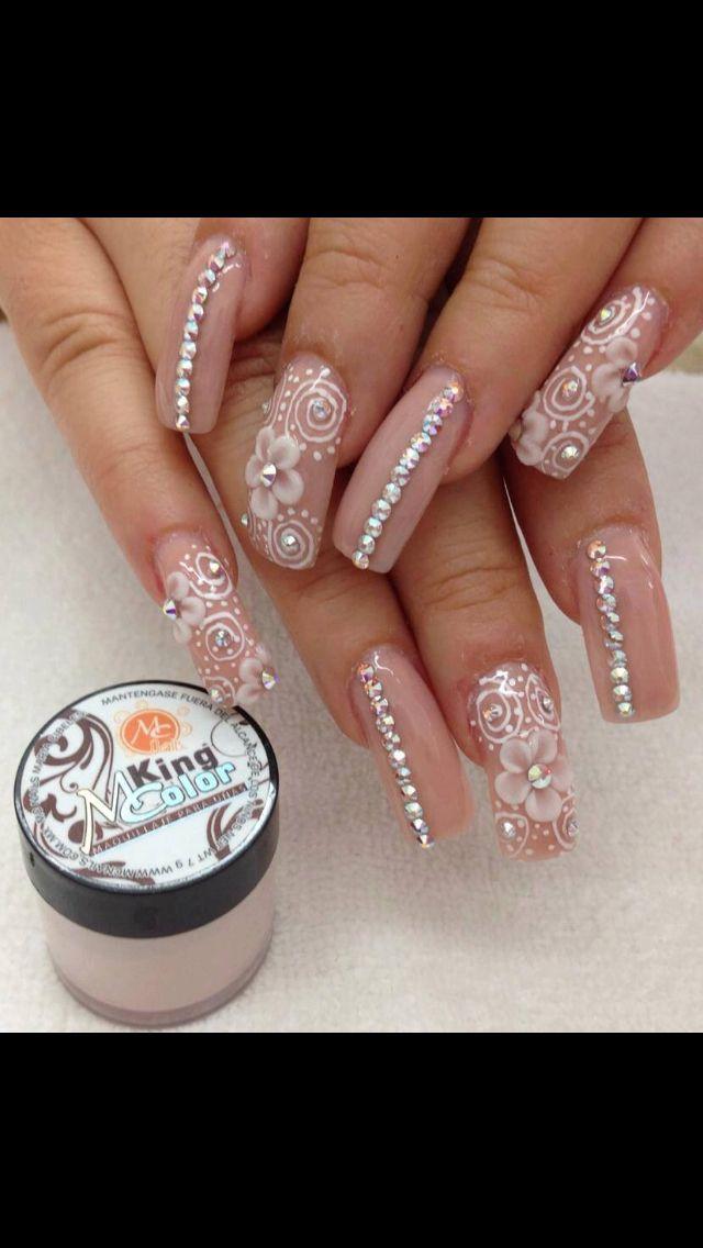 Nude 3D Acrylic Nails