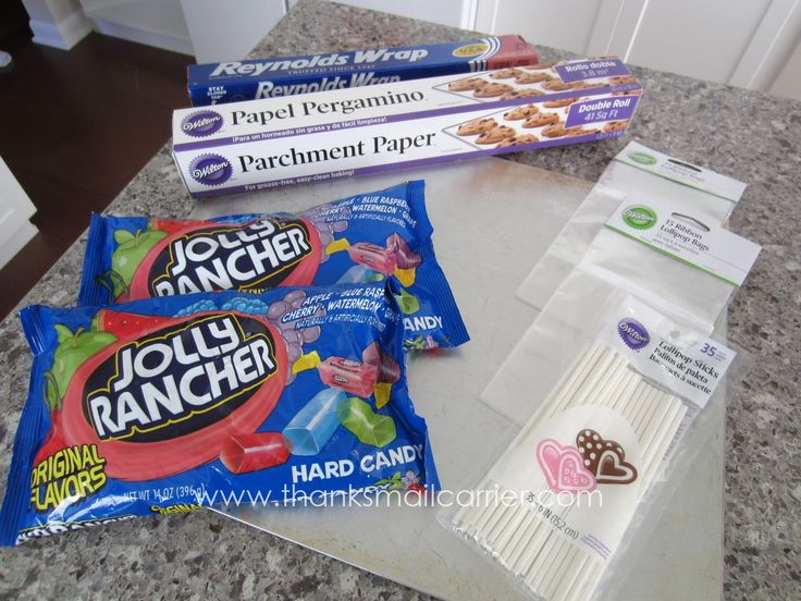 Jolly rancher lolly pops! So easy to make.