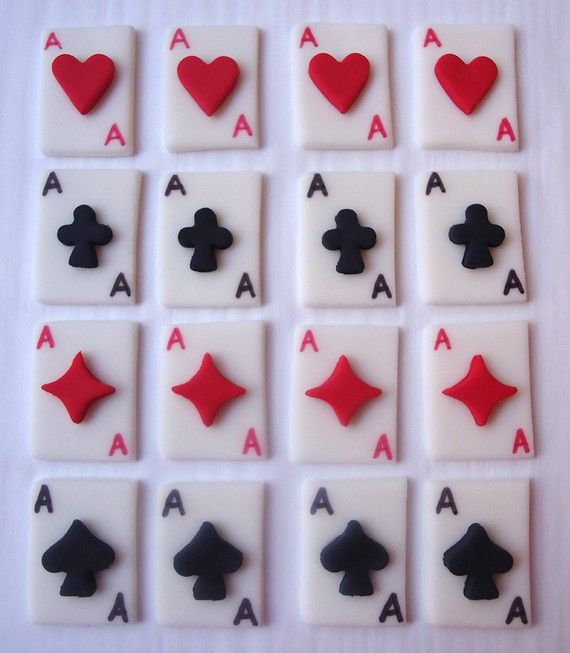 Cake Decoration Playing Cards : 32 best Fondant : Poker Theme images on Pinterest Poker ...