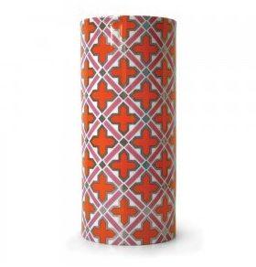 Orange patterned vase
