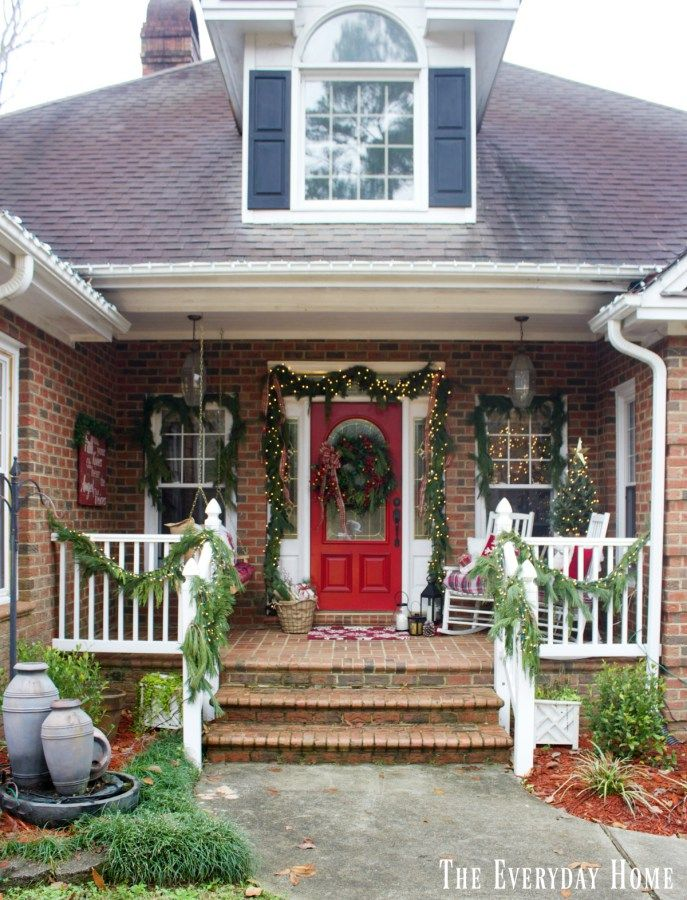 Christmas Front Porch Ideas 25+ best christmas front porches ideas on pinterest   christmas