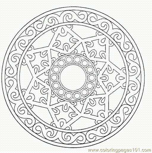 Printable Detailed Mandala Coloring Pages | ... Pages Mandalas 015 (Cartoons > Others) - free printable coloring page