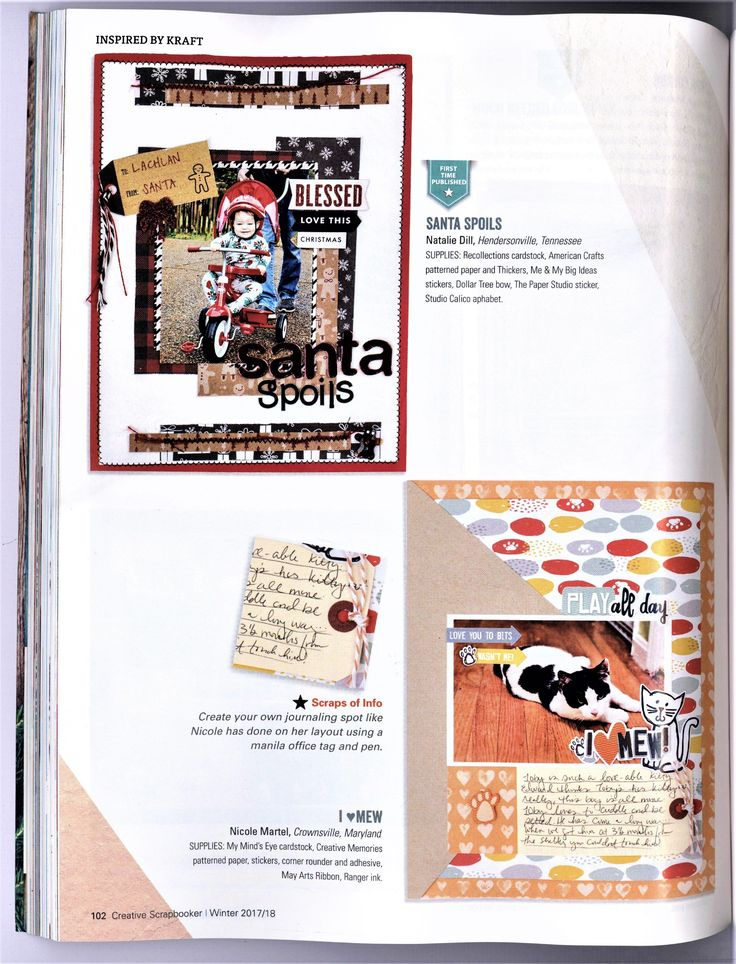 I heart Mew published in Creative Scrapbooker Winter 2017 Issue