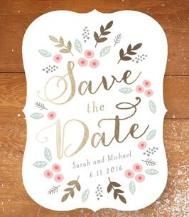 Love this fun and rustic save the date