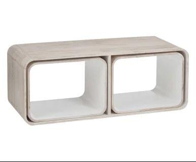 Set di 3 tavolini in legno di mango bianco e naturale, max 120x45x45 ...