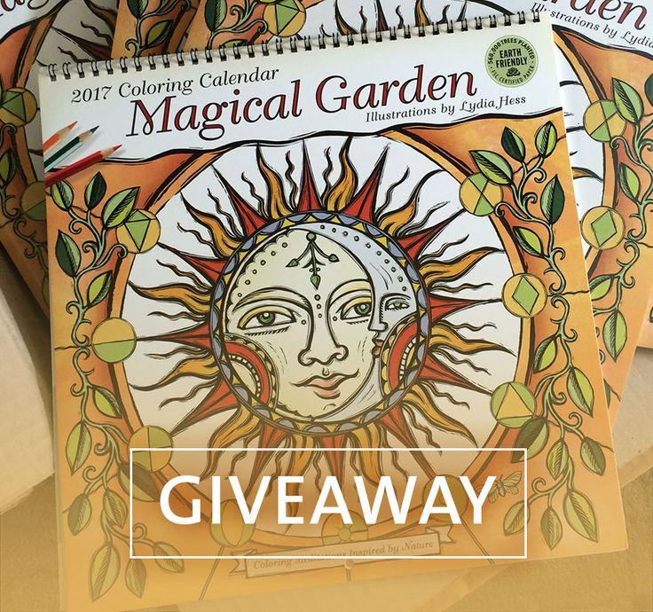 Were Giving Away 3 Copies Of The Magical Garden 2017 Coloring Wall Calendar