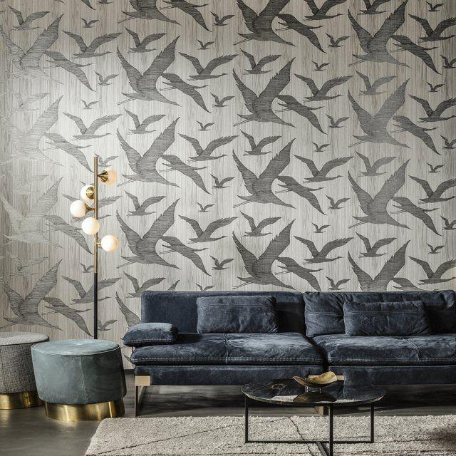 Un papier peint vol d'oiseaux, Arte