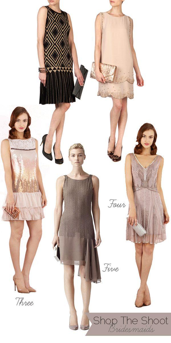 Shop The Shoot. Dapper Flapper Style – Autumn Winter 2012 Bridesmaid's Dresses by Saibh Egan
