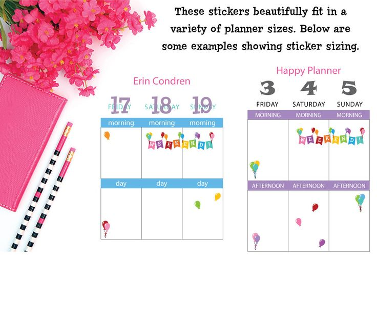 Weekend Stickers! Yay! - Style 175.  Fun to use in  planners like Erin Condren, Happy Planner, Kikki K, Filofax and more. Party reminder stickers.
