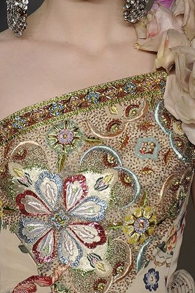 lesange´s embroidery for  Christian Lacroix. 2009