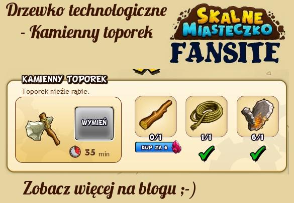 Nowe drzewko technologiczne - Kamienny toporek :) http://fansite.xaa.pl/sm/2012/10/15/kamienny-toporek/ #skalnemiasteczko