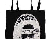 #sex pistols God save the queen #punk cotton tote shopper bag