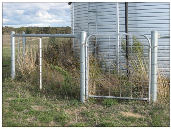 steel post and rail fencing - Google Search