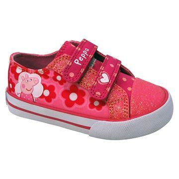 Toddler Girls' Peppa Pig Low Top Canvas Sneaker