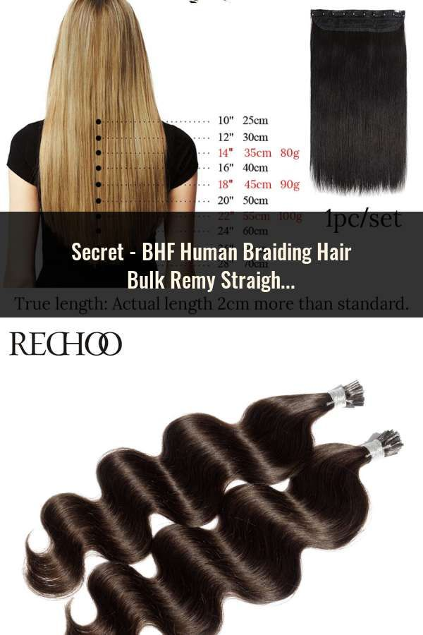 Bhf Human Braiding Hair Bulk Remy Straight European Hair Bulk