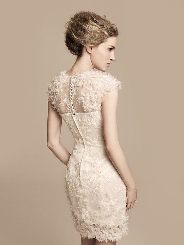THE WEDDING Mels Reception Dress From The Back