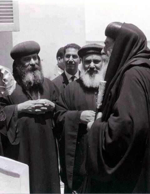 Pope Shenouda with Pope Kyrollos