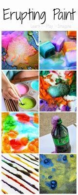 12 super fun paint recipes that pop and fizz, creating beautiful art eruptions